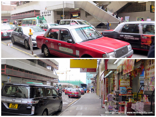 Shops and streets outside Ibis Hotel North Point, Hongkong - 2015