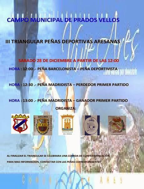 Numancia de Ares. III Triángular de Peñas Deportivas Aresanas. Prados Vellos 28/12/2013.