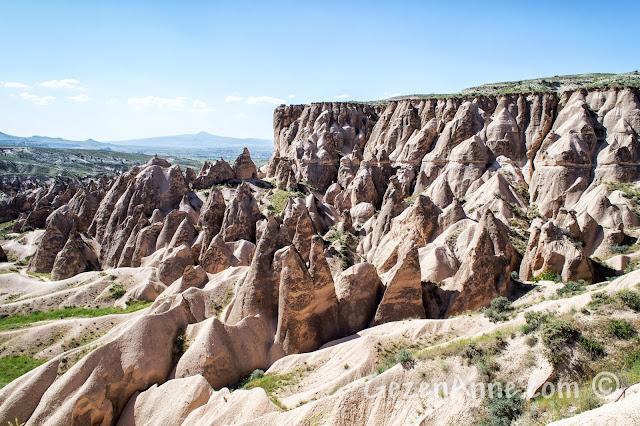 Kapadokya'daki Aktepe bölgesindeki peribacaları