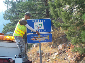 Riverkeeper sign installation NM