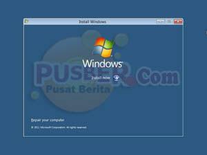Cara install windows 8, Cara instal windows 8