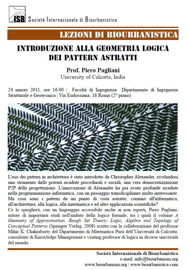 """Convegno """"Introduzione alla geometria logica dei pattern astratti"""""""