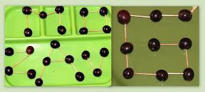 Use Grapes & Tooth Picks to make Alphabet shapes