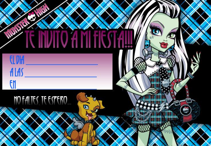 Monster High Invitación de cumpleaños