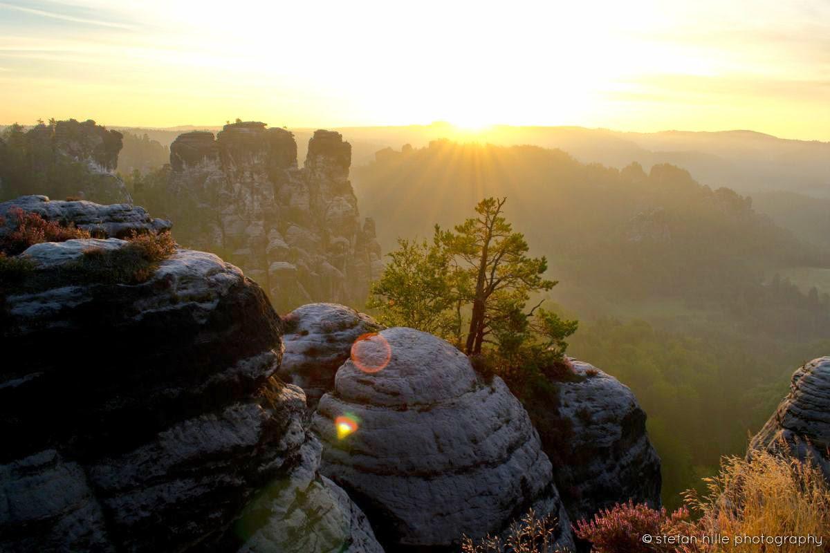 Elbsandsteingebirge in der Morgendämmerung, Foto von Stefan Hille