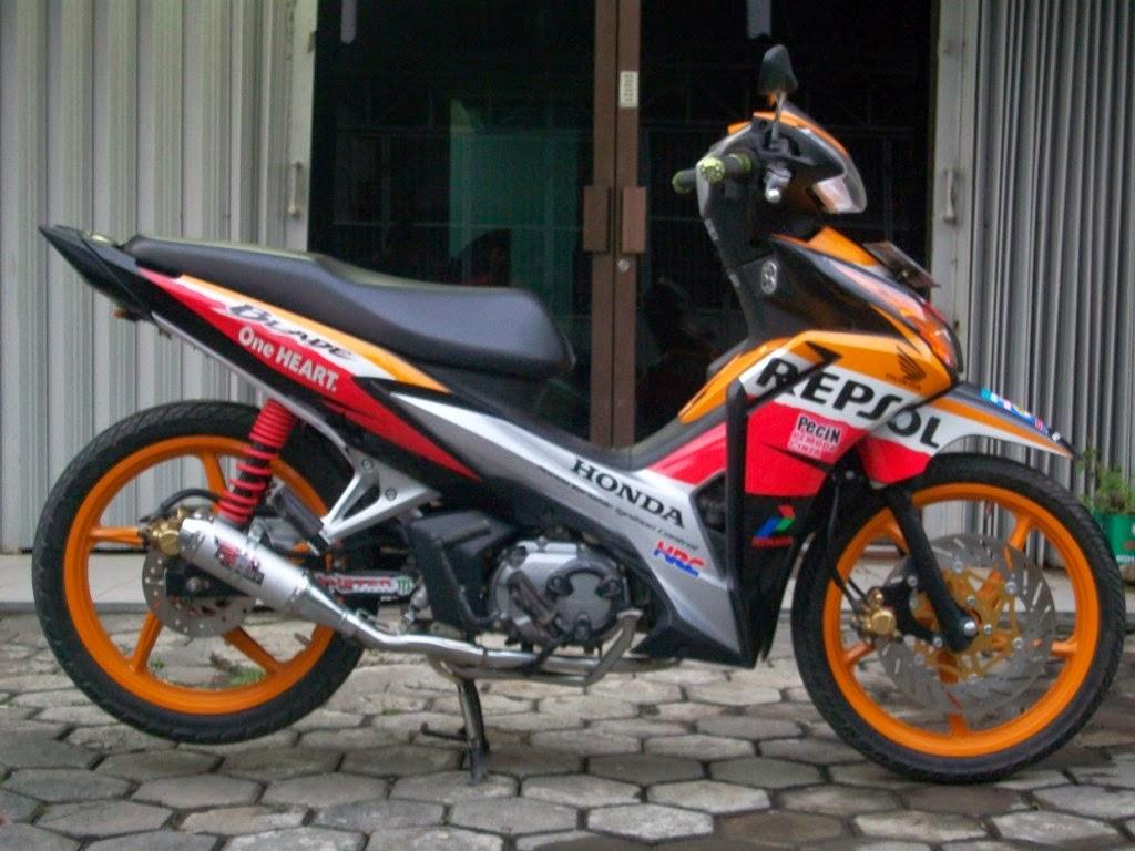 Motor Honda Blade Repsol Modifikasi