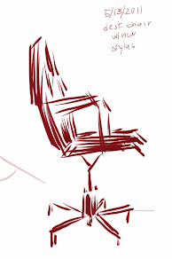 Digital sketch of office chair