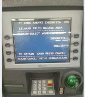 Pilih bahasa ATM