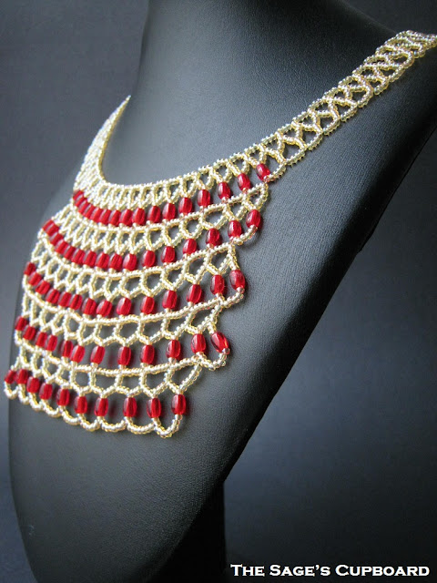 Red Jewel Bib Necklace