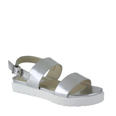 Silver sandals pretty chuffed