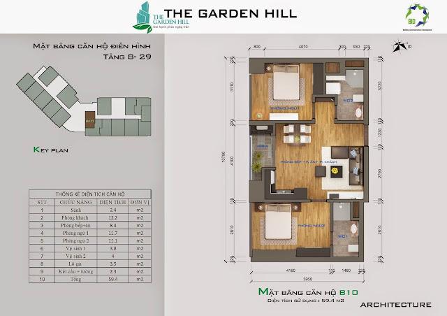 Căn B10 tầng 8 đến 29 garden hill - 99 trần bình