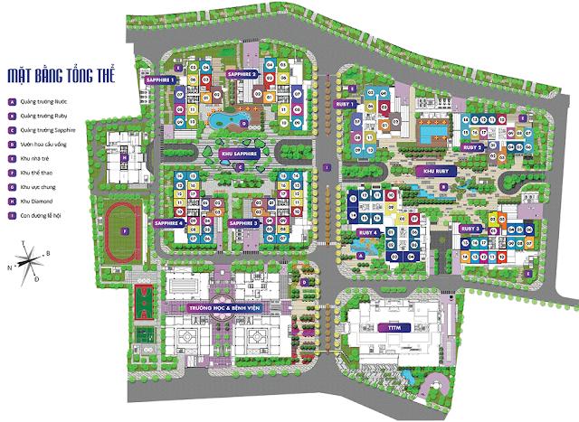 Mặt bằng tổng thể toàn khu dự án Goldmark City