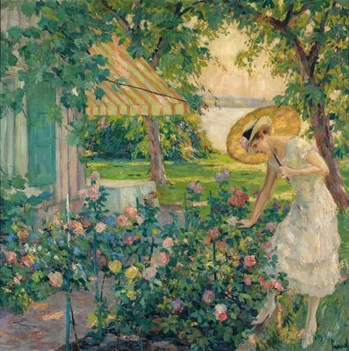 Edward Cucuel - In the Rosegarden