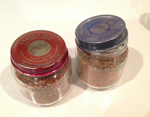 For the containers, I cleaned out old baby food jars and painted the ...