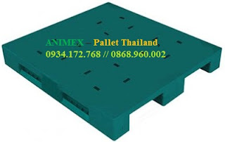 Pallet nhựa lưu kho 3 thanh chặn