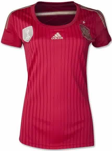 Jual Jersey Wanita Spanyol Home Piala Dunia 2014