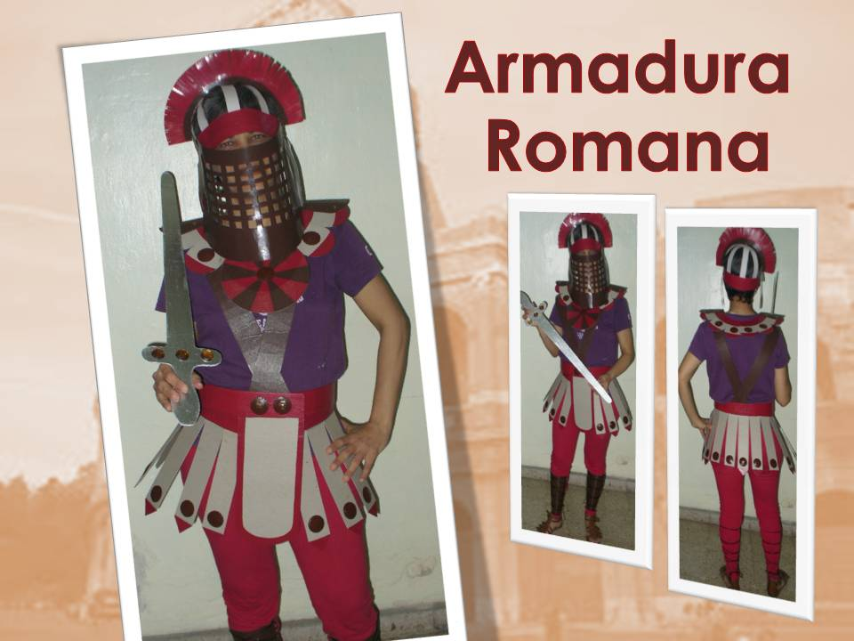 Con Tus Propias Manos: DISFRAZ DE ARMADURA ROMANA EN CARTóN