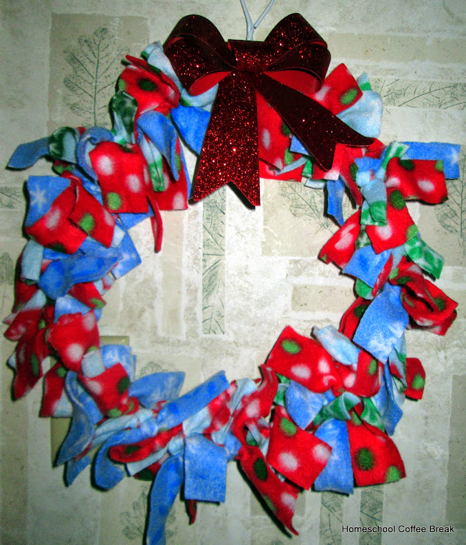 Fleece Wreath