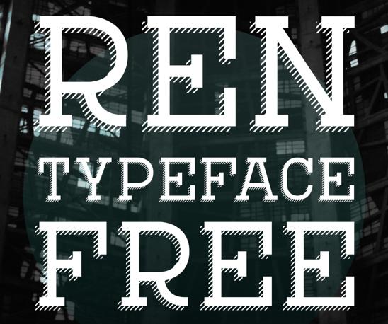 REN Typeface Free Fonts