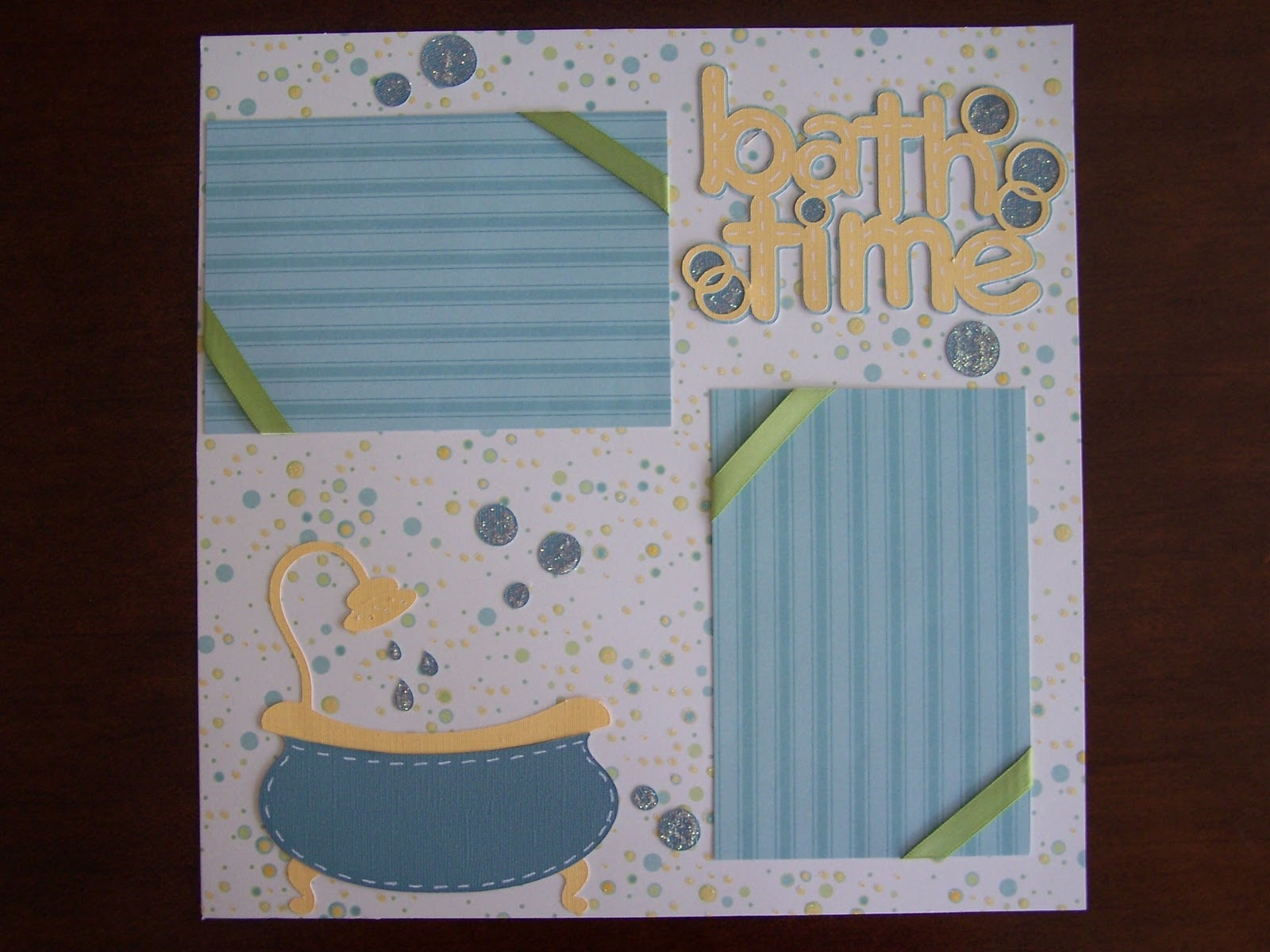 Scrapbook ideas without photos - I Used New Arrival For This Sweet Little Bathtub Cut At 5 Inches