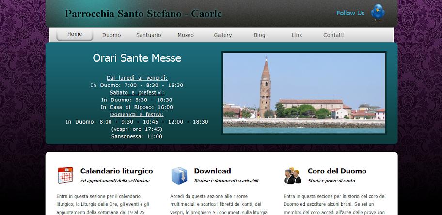 Nuova veste grafica e nuove funzionalità del sito parrocchiale caorleduomo.altervista.org.