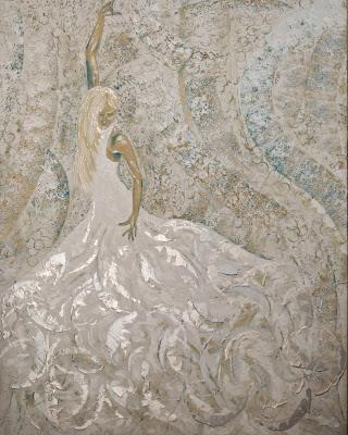 Purity Flamenco (White) Medium: Acrylic on Canvas  Size : 150 x 120cm