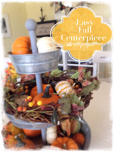 Easy fall centerpiece, mini pumpkins, the style sisters
