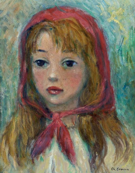 Charles Camoin - Jeune fille au foulard rouge