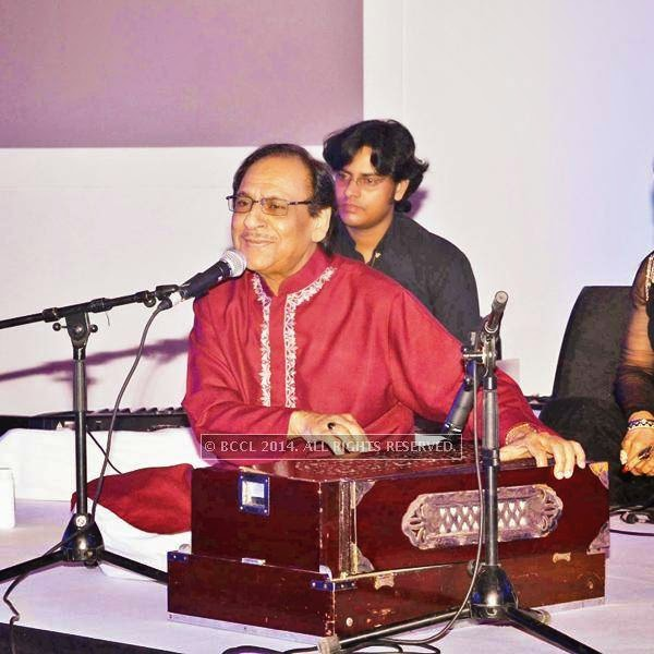 Ghulam Ali performs during the launch of Jaguar XJ, in Delhi.<br />