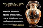 Ánfora con tapa de Atenea. Cultura griega