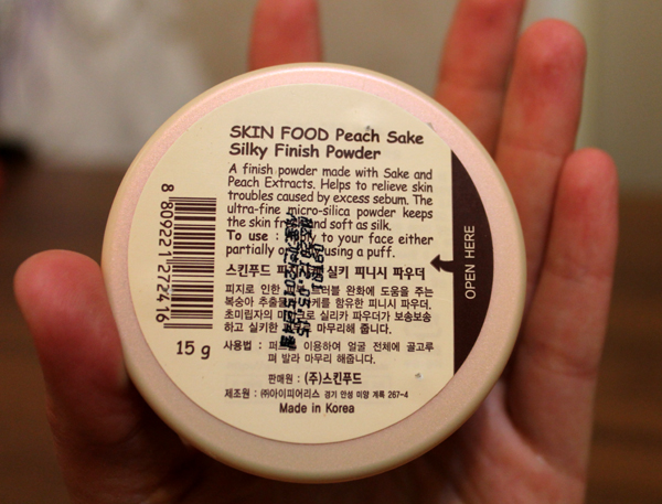 skin food peach sake silky finish powder — review, swaches, photo