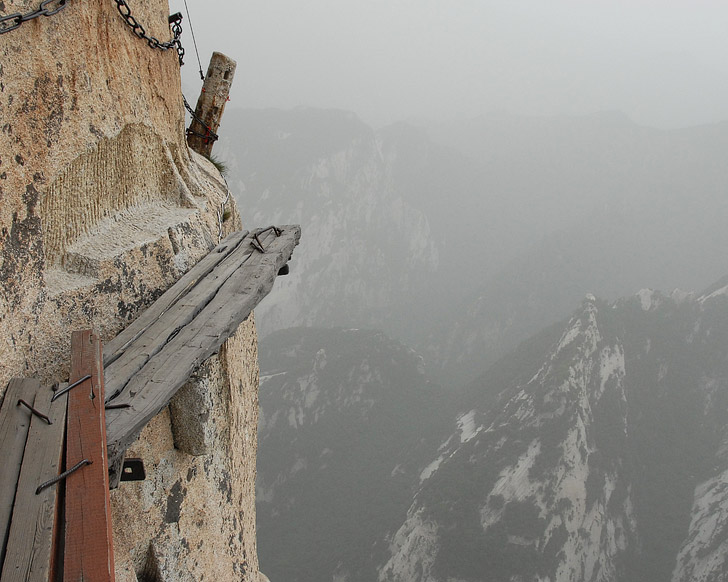 Mount Huashan Hike (15 Greatest Places to Conquer Your Fear of Heights).