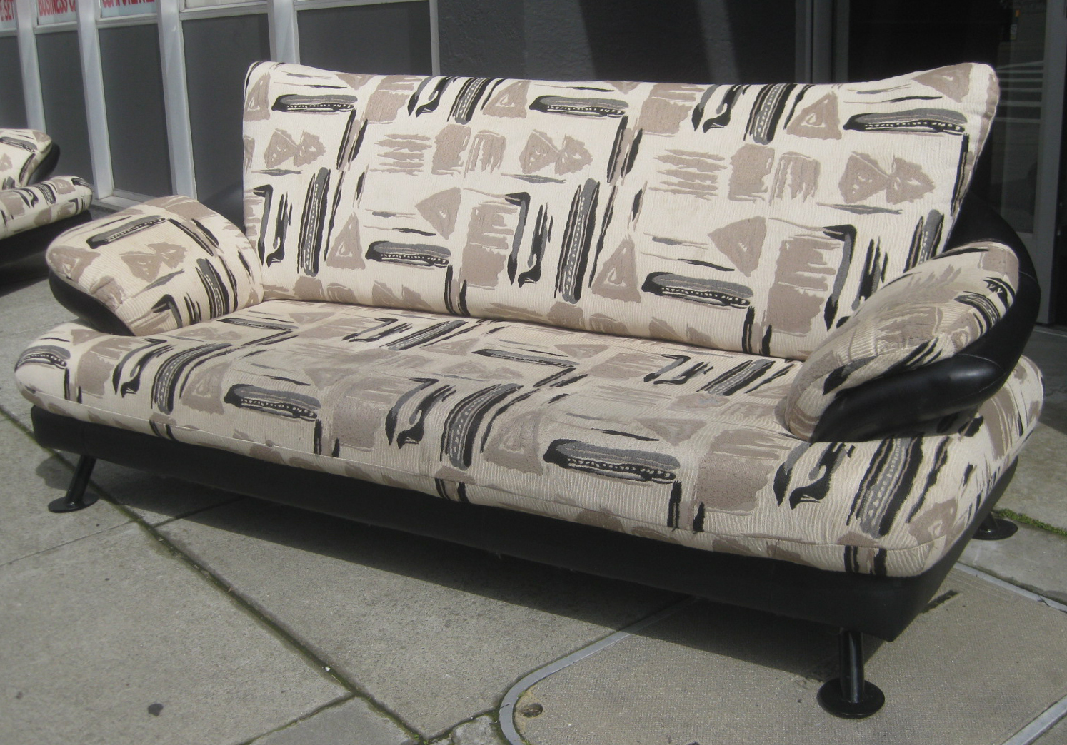 UHURU FURNITURE COLLECTIBLES SOLD African Print Loveseat and