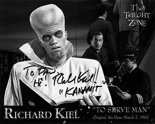 Richard Kiel stars in To Serve Man.