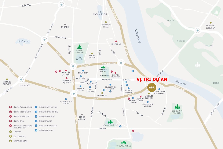 Vị trí dự án Amber Riverside Minh Khai