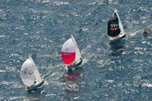 J24s sailing spinnakers in Mexico regatta