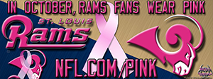 Rams Breast Cancer Awareness Pink Facebook Cover Photo