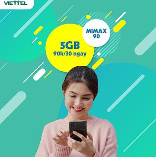 Miễn phí Data dùng cả tháng với Gói Mimax90 Viettel