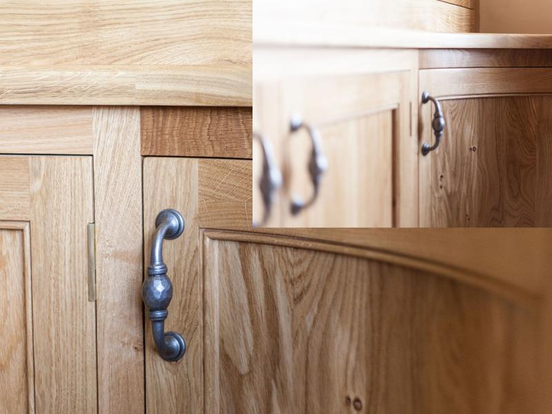 gỗ ghép sồi làm hộc tủ, cánh cửa tủ 3