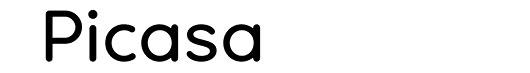 Ultima Regular font logo Picasa