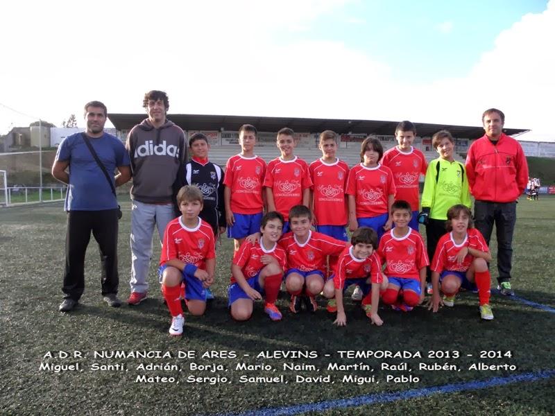 Numancia de Ares. Equipo alevín temporada 2013 - 2014