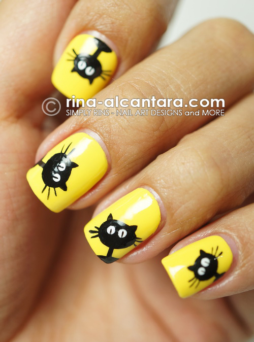 Nail Art: Black Cats Galore | Simply Rins
