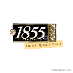 1855 Brand Meats logo. Logo design Denver CO.