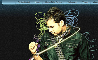 Amrinder Gill's Album  Website