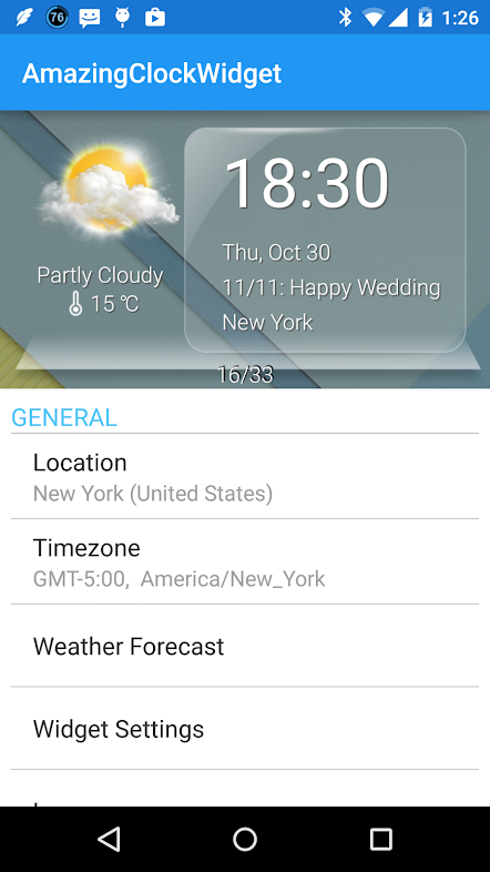 Aplikace, ACW Clock Widget Screenshot11