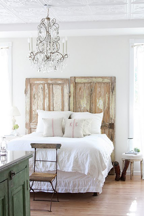 Shabby chic French farmhouse bedroom by Dreamywhites