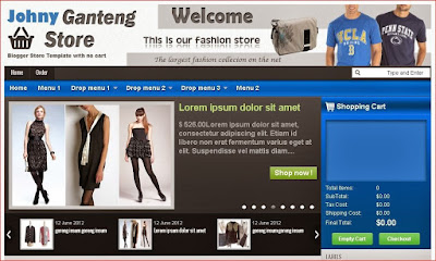 Mẫu template blogspot bán hàng chuyên nghiệp miễn phí (Johny ganteng store)