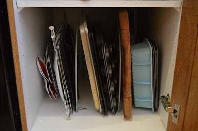 Installing Dividers to Organize Baking Sheets