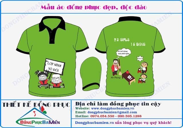 Dong phuc hoc sinh lop 11A3 truong THPT An Vien