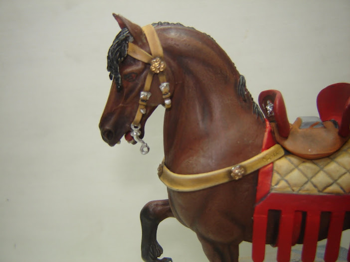 Crusader Knight c.1250 (Mounted) -  Andrea Miniatures 90mm DSC08081